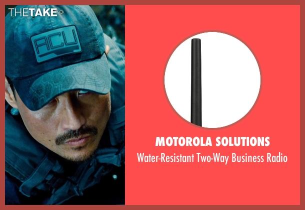 Motorola Solutions radio from Jurassic World seen with Brian Tee (Takashi Hamada)
