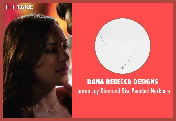 Dana Rebecca Designs gold necklace from Step Up: All In seen with Briana Evigan (Andie)