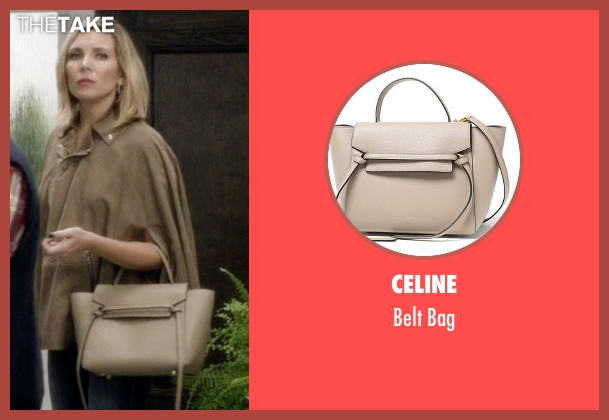 Celine beige bag from Grace and Frankie seen with Brianna Hanson (June Diane Raphael)