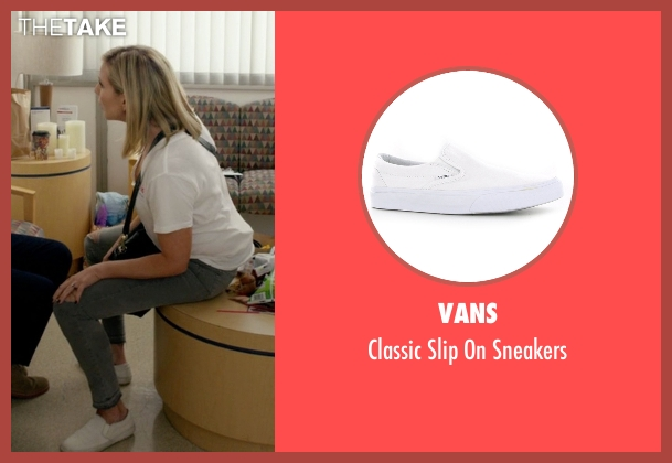 Vans white sneakers from Grace and Frankie seen with Brianna Hanson (June Diane Raphael)