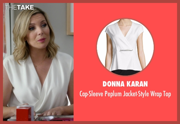 Donna Karan white top from Grace and Frankie seen with Brianna Hanson (June Diane Raphael)