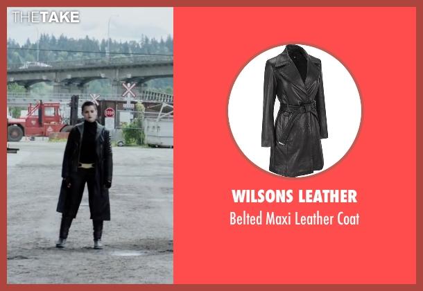 Wilsons Leather black coat from Deadpool seen with Brianna Hildebrand (Negasonic Teenage Warhead)