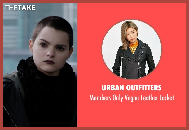 Urban Outfitters black jacket from Deadpool seen with Brianna Hildebrand (Negasonic Teenage Warhead)