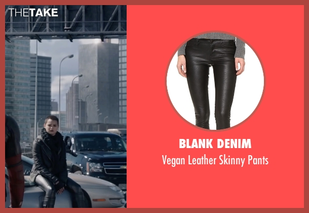 Blank Denim black pants from Deadpool seen with Brianna Hildebrand (Negasonic Teenage Warhead)