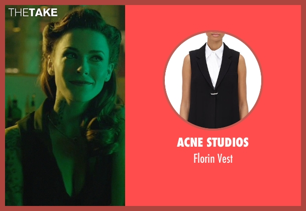 Acne Studios black vest from John Wick seen with Bridget Regan (Addy)