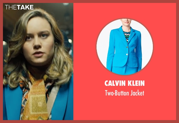 Calvin Klein blue jacket from Free Fire seen with Brie Larson (Justine)