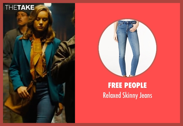 Free People blue jeans from Free Fire seen with Brie Larson (Justine)