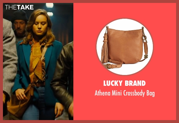 Lucky Brand brown bag from Free Fire seen with Brie Larson (Justine)