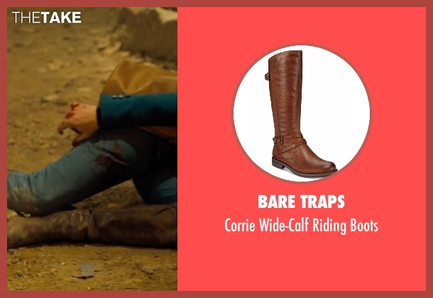 Bare Traps brown boots from Free Fire seen with Brie Larson (Justine)