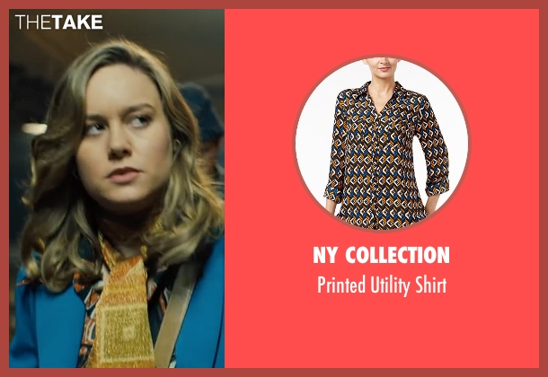NY Collection brown shirt from Free Fire seen with Brie Larson (Justine)