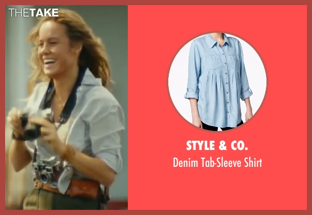 Style & Co. blue shirt from Kong: Skull Island seen with Brie Larson (Weaver)