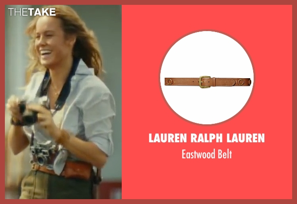 Lauren Ralph Lauren brown belt from Kong: Skull Island seen with Brie Larson (Weaver)