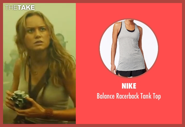 Nike gray top from Kong: Skull Island seen with Brie Larson (Weaver)
