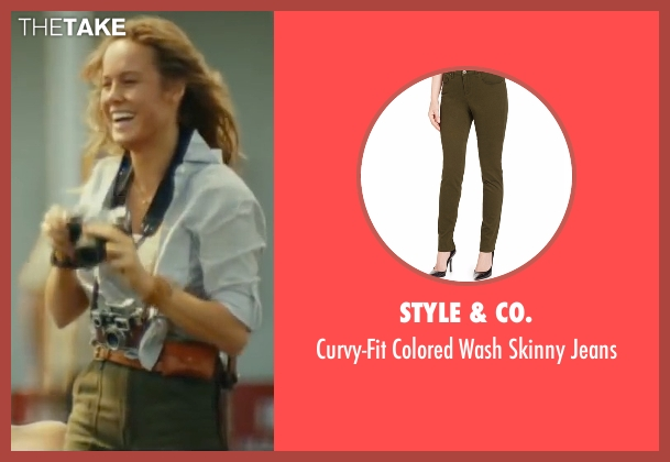 Style & Co. green jeans from Kong: Skull Island seen with Brie Larson (Weaver)