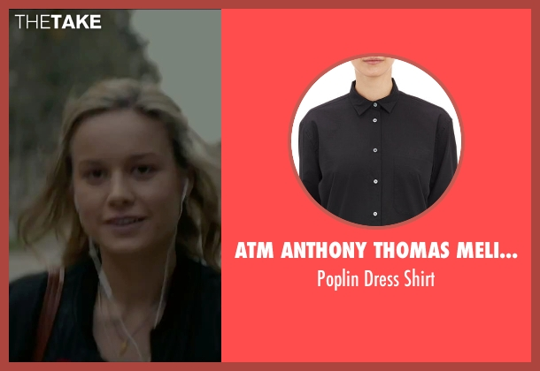 Atm Anthony Thomas Melillo black shirt from The Gambler seen with Brie Larson (Amy Phillips)