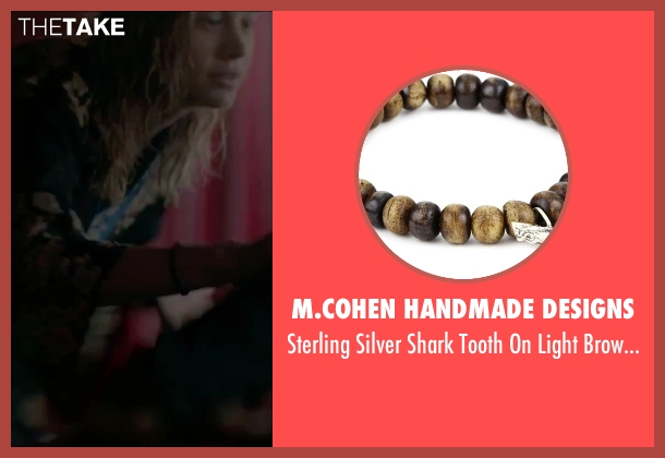 M.Cohen Handmade Designs brown bracelet from The Gambler seen with Brie Larson (Amy Phillips)