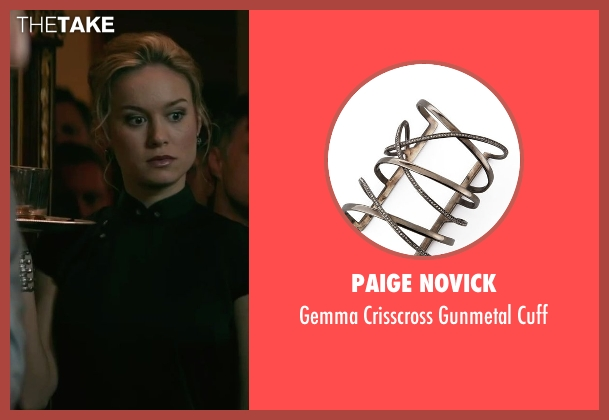 Paige Novick silver cuff from The Gambler seen with Brie Larson (Amy Phillips)