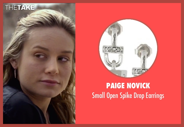 Paige Novick silver earrings from The Gambler seen with Brie Larson (Amy Phillips)