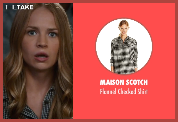 Maison Scotch black shirt from The Longest Ride seen with Britt Robertson (Sophia Danko)