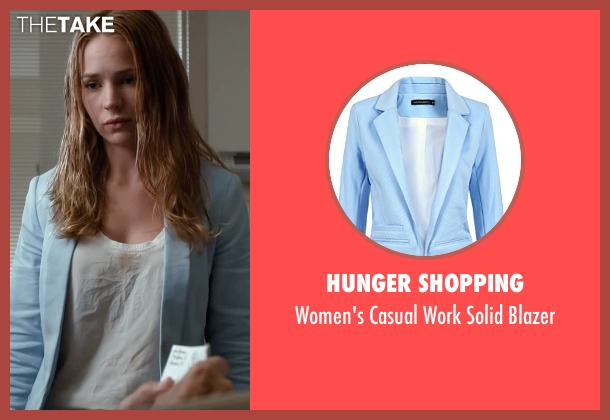 Hunger Shopping blue blazer from The Longest Ride seen with Britt Robertson (Sophia Danko)