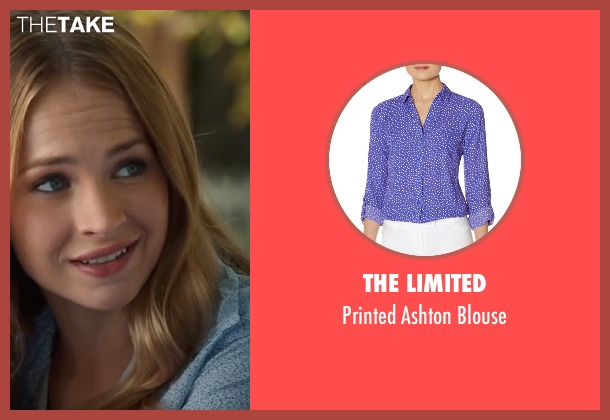 The Limited blue blouse from The Longest Ride seen with Britt Robertson (Sophia Danko)