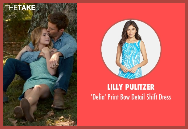 Lilly Pulitzer blue dress from The Longest Ride seen with Britt Robertson (Sophia Danko)