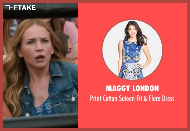 Maggy London blue dress from The Longest Ride seen with Britt Robertson (Sophia Danko)