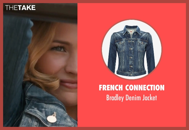 French Connection blue jacket from The Longest Ride seen with Britt Robertson (Sophia Danko)