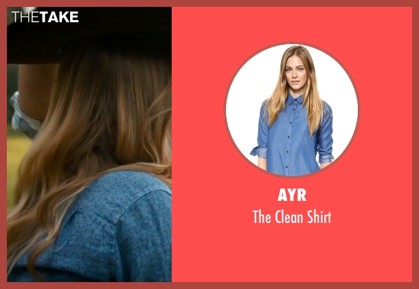 AYR blue shirt from The Longest Ride seen with Britt Robertson (Sophia Danko)