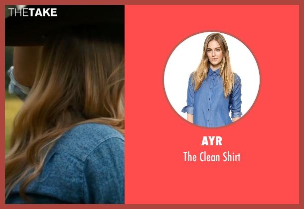 AYR blue shirt from The Longest Ride seen with Britt Robertson (Sophia Danko)