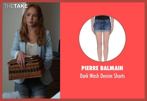 Pierre Balmain blue shorts from The Longest Ride seen with Britt Robertson (Sophia Danko)