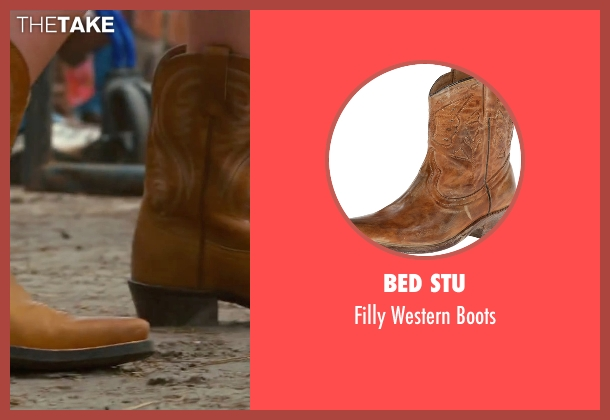 Bed Stu brown boots from The Longest Ride seen with Britt Robertson (Sophia Danko)