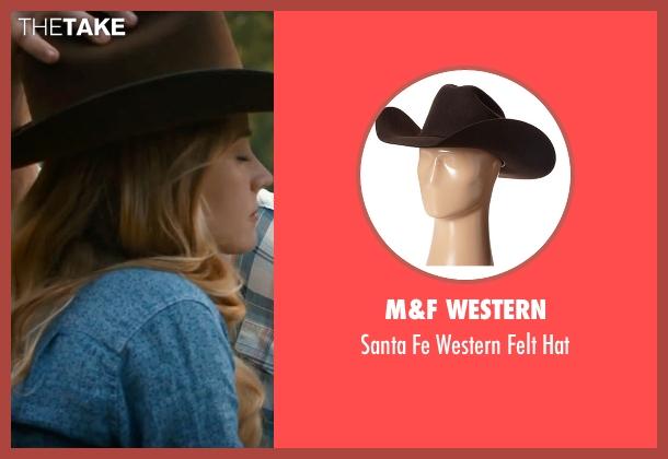 M&F Western brown hat from The Longest Ride seen with Britt Robertson (Sophia Danko)