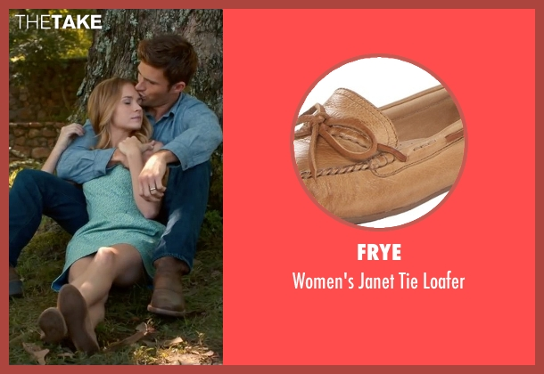 Frye brown loafer from The Longest Ride seen with Britt Robertson (Sophia Danko)