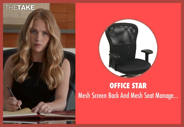 Office Star chair from The Longest Ride seen with Britt Robertson (Sophia Danko)