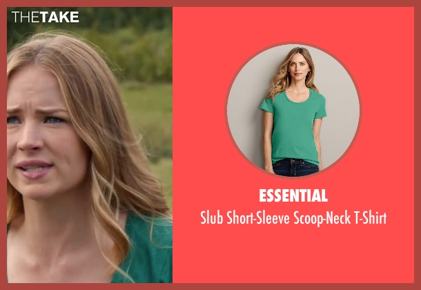Essential green t-shirt from The Longest Ride seen with Britt Robertson (Sophia Danko)