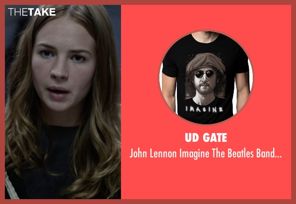 UD Gate black t-shirt from Tomorrowland seen with Britt Robertson (Casey Newton)