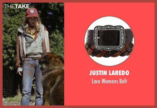 Justin Laredo brown belt from Tomorrowland seen with Britt Robertson (Casey Newton)