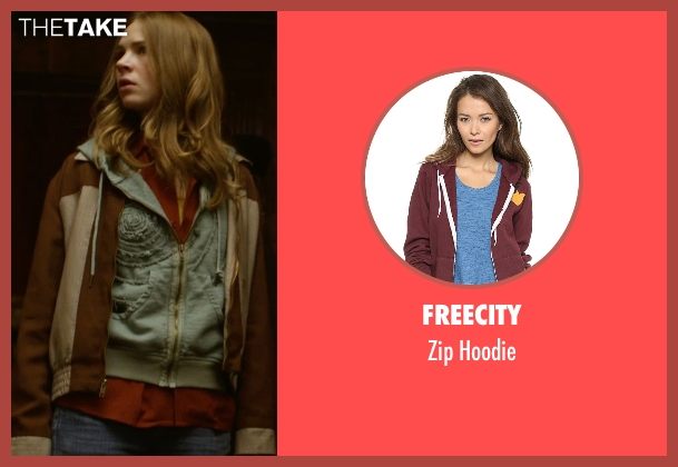 Freecity brown hoodie from Tomorrowland seen with Britt Robertson (Casey Newton)