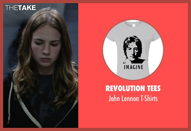Revolution Tees gray t-shirts from Tomorrowland seen with Britt Robertson (Casey Newton)