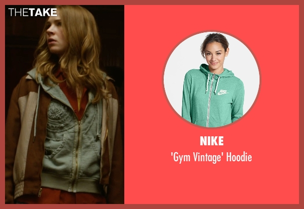 Nike green hoodie from Tomorrowland seen with Britt Robertson (Casey Newton)