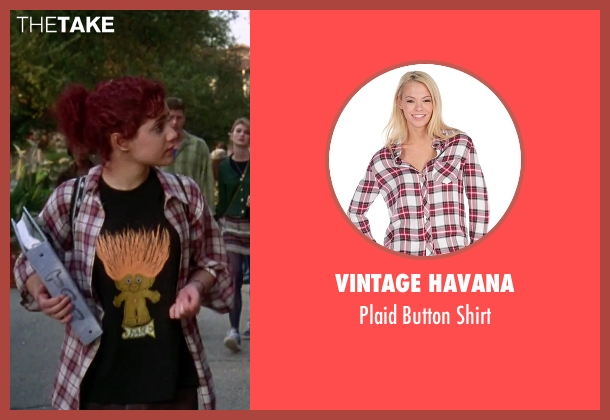 Vintage Havana red shirt from Clueless seen with Brittany Murphy (Tai)