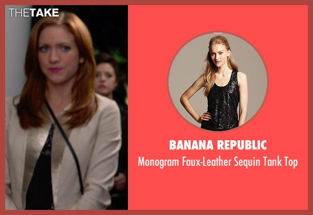 Banana Republic black top from Pitch Perfect 2 seen with Brittany Snow