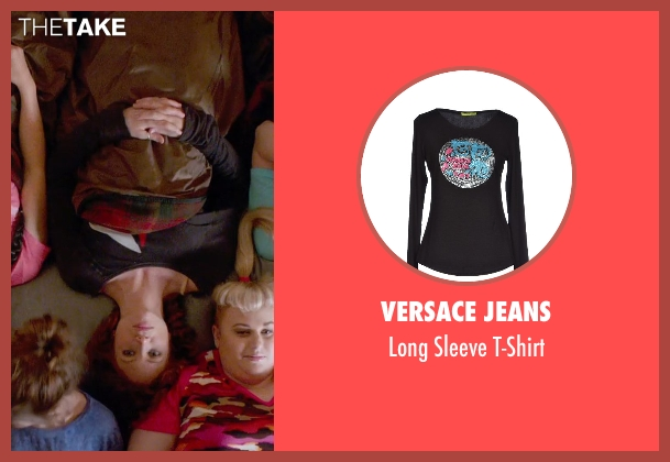 Versace Jeans black t-shirt from Pitch Perfect 2 seen with Brittany Snow