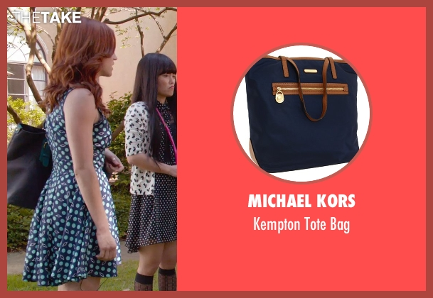 Michael Kors blue bag from Pitch Perfect 2 seen with Brittany Snow