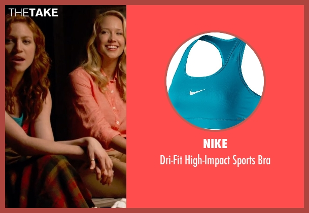 Nike blue bra from Pitch Perfect 2 seen with Brittany Snow