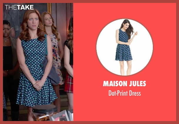 Maison Jules blue dress from Pitch Perfect 2 seen with Brittany Snow