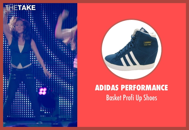 Adidas Performance blue shoes from Pitch Perfect 2 seen with Brittany Snow