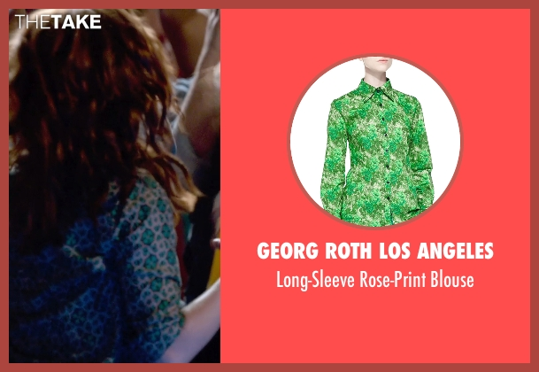 Georg Roth Los Angeles green blouse from Pitch Perfect 2 seen with Brittany Snow