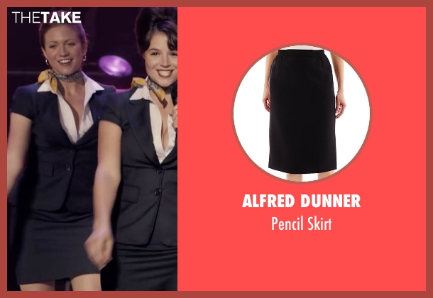 Alfred Dunner black skirt from Pitch Perfect seen with Brittany Snow (Chloe)